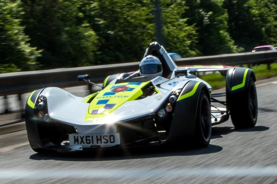BAC Mono Police Car at Isle of Man Gets a BAC Mono Police Car!