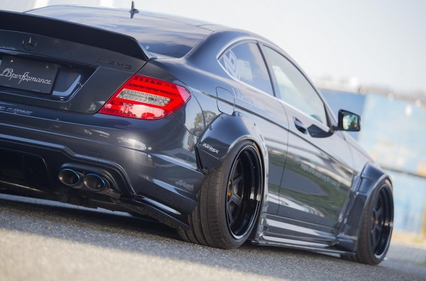 at Liberty Walk Mercedes C63 AMG Wide Body