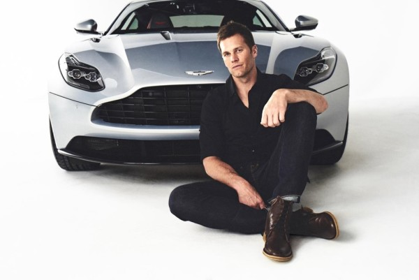 brady aston 600x401 at Tom Brady Stars in New Aston Martin Commercials