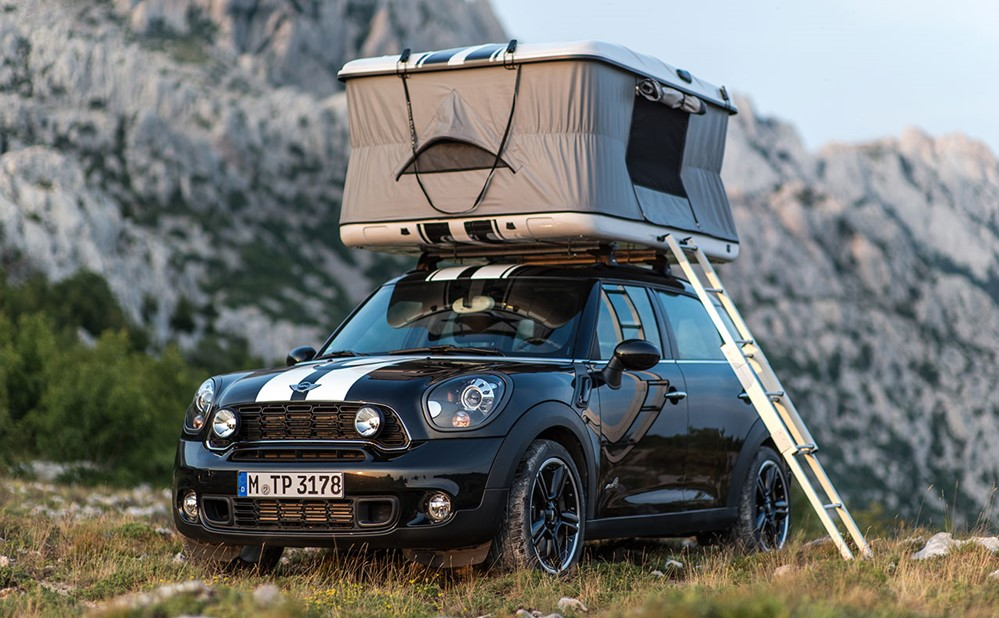 mini countryman roof tent. Black Bedroom Furniture Sets. Home Design Ideas
