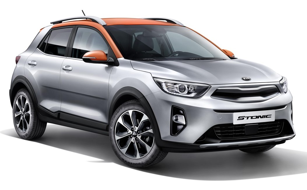 01 Stonic 3 4 Front plain at 2018 Kia Stonic Goes Official