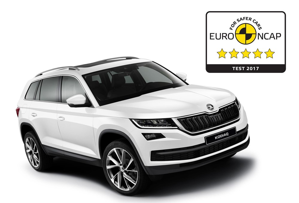 Kodiaq NCAP at Skoda Kodiaq Earns EuroNCAP 5 Star Safety Rating