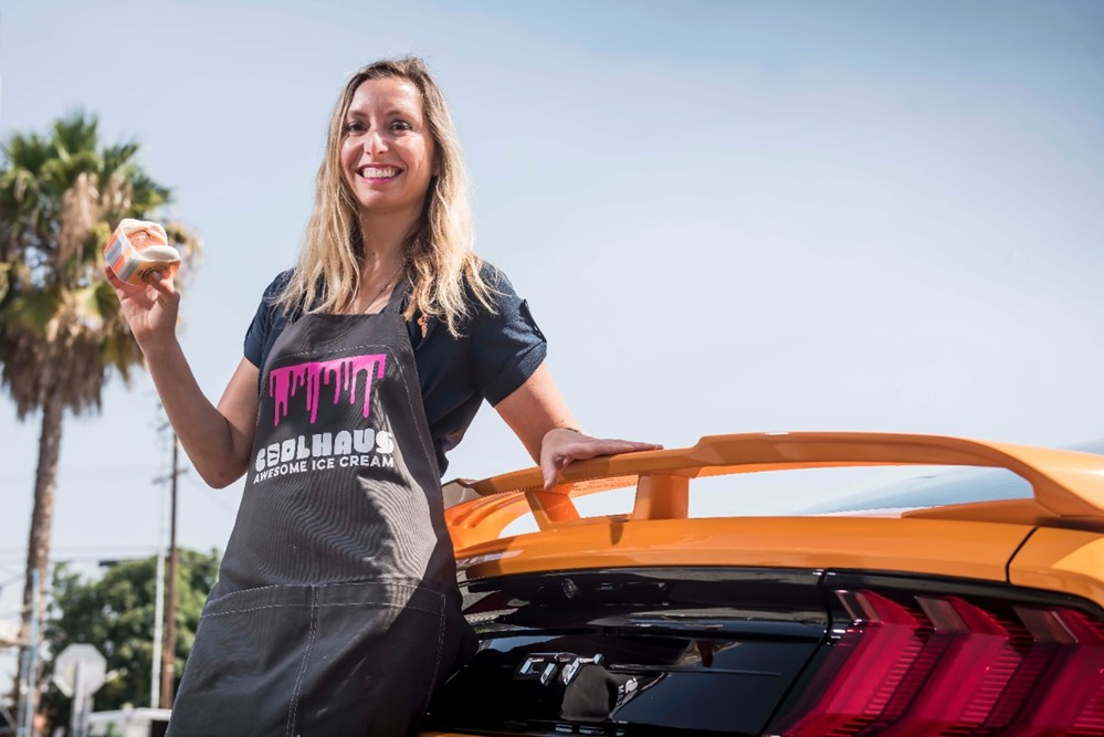 Mustang Inspired Orange Fury Ice Cream 1 at 2018 Ford Mustang Inspires New Coolhaus Ice Cream!