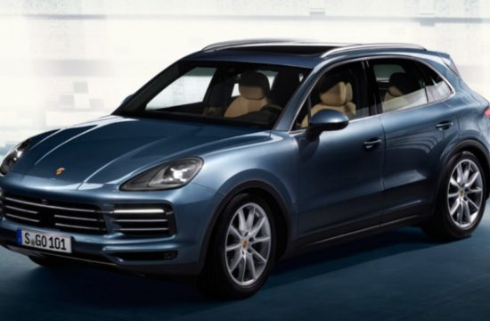 2018 cayenne leak 1 550x360 at 2018 Porsche Cayenne Leaked   Early Look