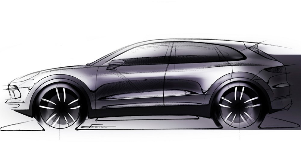 2018 cayenne sketch at 2018 Porsche Cayenne Previewed in Official Sketch