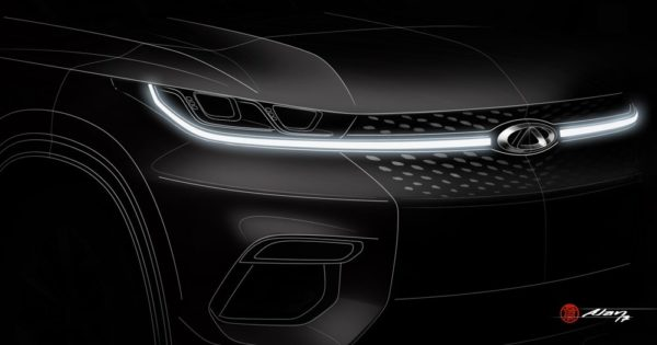 Chery IAA2017 2 600x315 at Chery Reveals Sketch of New Global Crossover