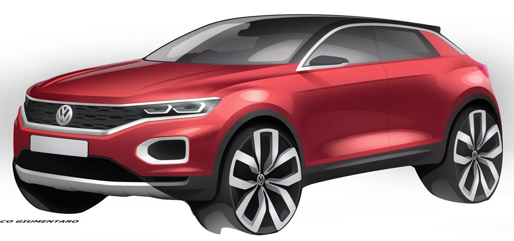 T Roc concept sketch 2 at 2018 Volkswagen T Roc Compact SUV Preview