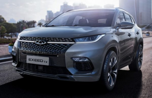 2018 Chery Exeed TX 0 600x388 at 2018 Chery Exeed TX Crossover Officially Introduced