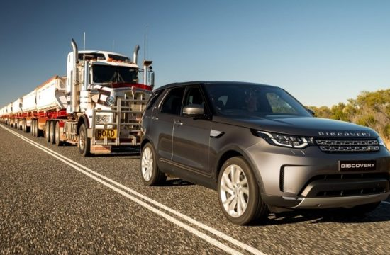 2018 Land Rover Discovery train pull 0 550x360 at 2018 Land Rover Discovery Tows 110 Tonne Road Train
