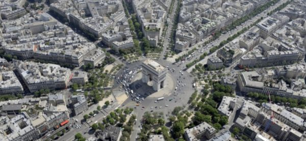 Place Charles de Gaulle 600x277 at 9 Fascinating Road Junctions Across the World