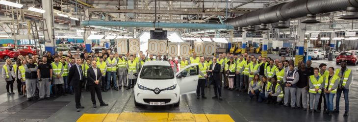 21198040 The 18 millionth car to roll off Flins production line is a ZOE 730x249 at Renault Flins Plant Celebrates Production of 18 Millionth Car