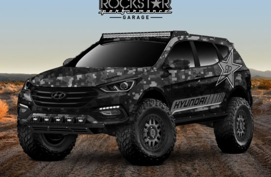 48887 HYUNDAI ENERGIZES THE 2017 SEMA SHOW WITH ROCKSTAR ENERGY MOAB EXTREME OFF 550x360 at 2017 SEMA Preview: Rockstar Moab Extreme Concept Santa Fe