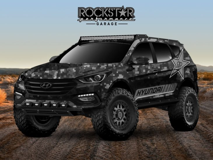 48887 HYUNDAI ENERGIZES THE 2017 SEMA SHOW WITH ROCKSTAR ENERGY MOAB EXTREME OFF 730x548 at 2017 SEMA Preview: Rockstar Moab Extreme Concept Santa Fe