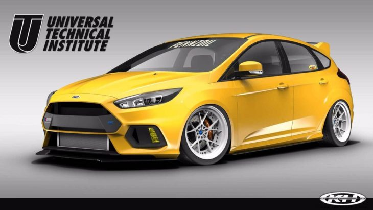 Ford Focus RS by Pennzoil 1 730x411 at SEMA 2017: Ford Focus RS by UTI, Tjin, and Pennzoil