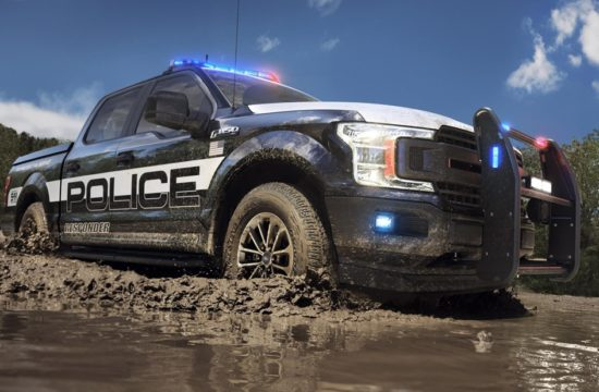 Ford Hybrid Police Cars 00 550x360 at Ford Hybrid Police Cars (Fusion and F 150) Get Their Badges