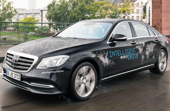 Intelligent World Drive Mercedes 1 550x360 at Autonomous Mercedes S Class Goes on Intelligent World Drive Tour