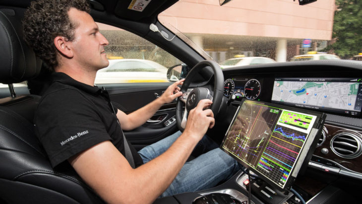 Intelligent World Drive Mercedes 2 730x411 at Autonomous Mercedes S Class Goes on Intelligent World Drive Tour