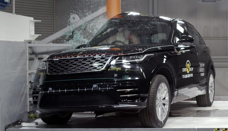 velar crash test 730x419 at Range Rover Velar Earns 5 Star Safety Rating from EuroNCAP