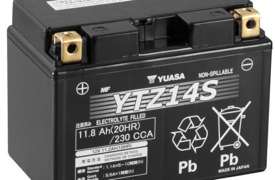 yuasa ytz14s motorcycle battery 1303 p 550x360 at Common Reasons Your Motorcycle Battery Is Going Flat and How to Prevent Them