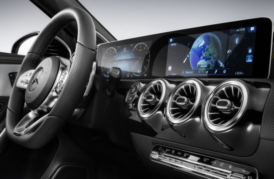2018 Mercedes A Class Interior 1 550x360 at 2018 Mercedes A Class Interior Officially Revealed