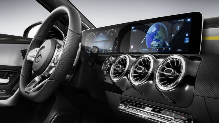 2018 Mercedes A Class Interior 1 730x411 at 2018 Mercedes A Class Interior Officially Revealed