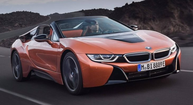 BMW i8 Roadster 1 730x398 at BMW i8 Roadster Comes with Increased Range, Good Looks