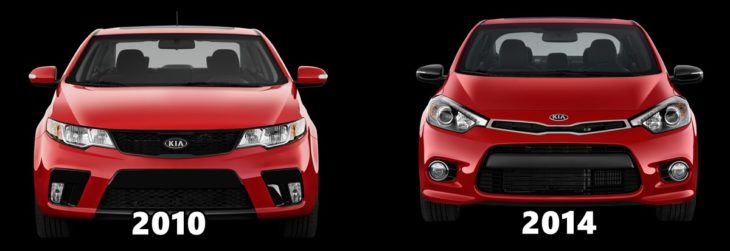 Forte Koup Comparo 730x251 at Car Design   Are We at the End of the Road?