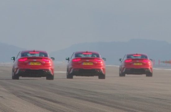 Kia Stinger RunwayLaunch Pic5 550x360 at Kia Stinger V6 Tries Top Speed Run at Newquay Airport Runway
