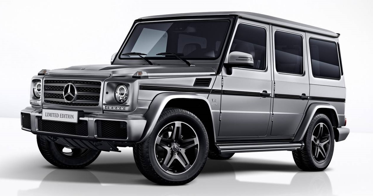 limited edition mercedes g-class models mark end of production