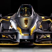at Tramontana Supercar Gets Gold Interior from Vilner