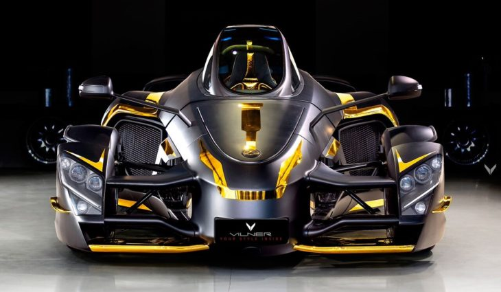 at Tramontana Supercar Gets Gold Interior from Vilner