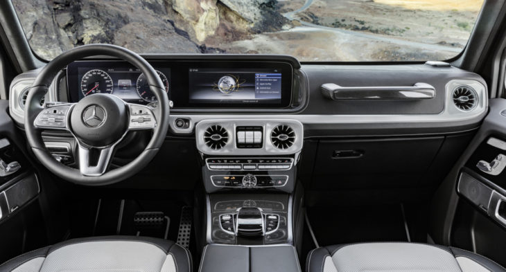 2019 Mercedes G Class Interior 1 730x393 at 2019 Mercedes G Class Interior Revealed in Official Photos