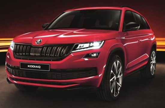 Skoda Kodiaq SportLine UK 1 550x360 at 2018 Skoda Kodiaq SportLine UK Pricing and Specs