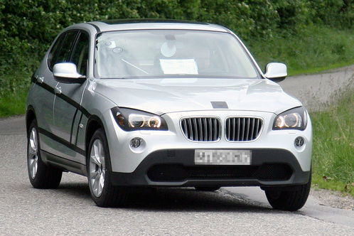 BMW X1 scooped almost undisguised bmw x1 2010