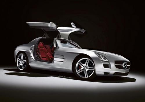 Mercedes SLS AMG gets visualized merceeds sls rendering 1