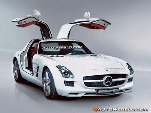 First picture of Mercedes SLS AMG leaked  photo