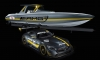 Mercedes AMG GT3 Inspires Cigarette Racing Performance Boat