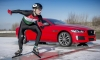 Jaguar XE 300 SPORT Beats Olympic Gold Medalist in Ice Race