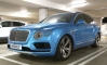 Royal Blue Bentley Bentayga Spotted Sitting Unusually Low