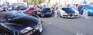 4X Bugatti Veyron Spotted in Monaco!