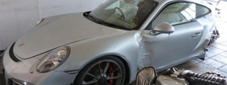 Wrecked Porsche 991 GT3 on Sale for 49,900 Euros