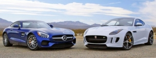 GT War: Mercedes AMG GT v Jaguar F-Type R