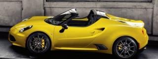 Alfa Romeo 4C Spider Priced from £59,500 (UK)
