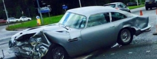 Aston Martin DB5 Wrecked in Manchester