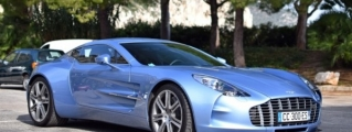 Mako Blue Aston Martin One-77 Sighted in France