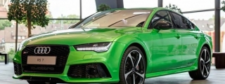 Apple Green Audi RS7 Looks Delicious!
