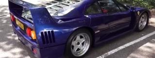 Up Close with Blue Ferrari F40 in London