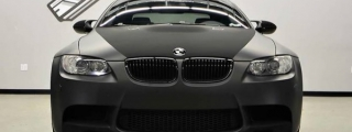 BMW M3 E92 Wrapped in Matte Black and Velvet