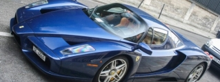 Magnificent Blue Ferrari Enzo Spotted in Paris