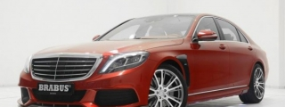 Red Brabus Mercedes S-Class Revealed for Christmas